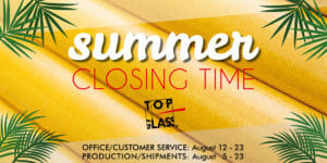 Company closing time for summer Holiday